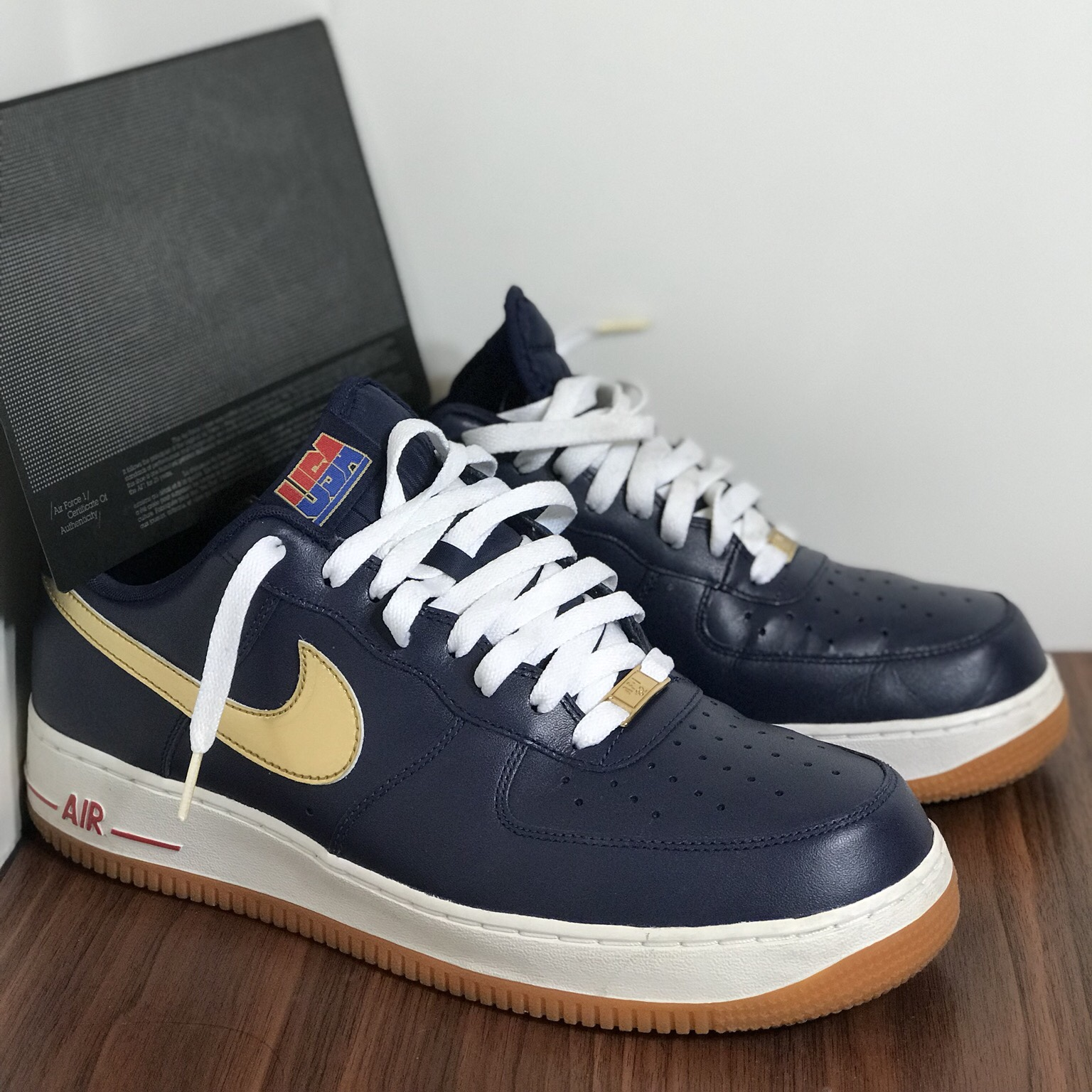 7f0747c2f3862 USA 2012 Olympic Dream Team Nike Af1 Low. WORN  Mens size - Depop