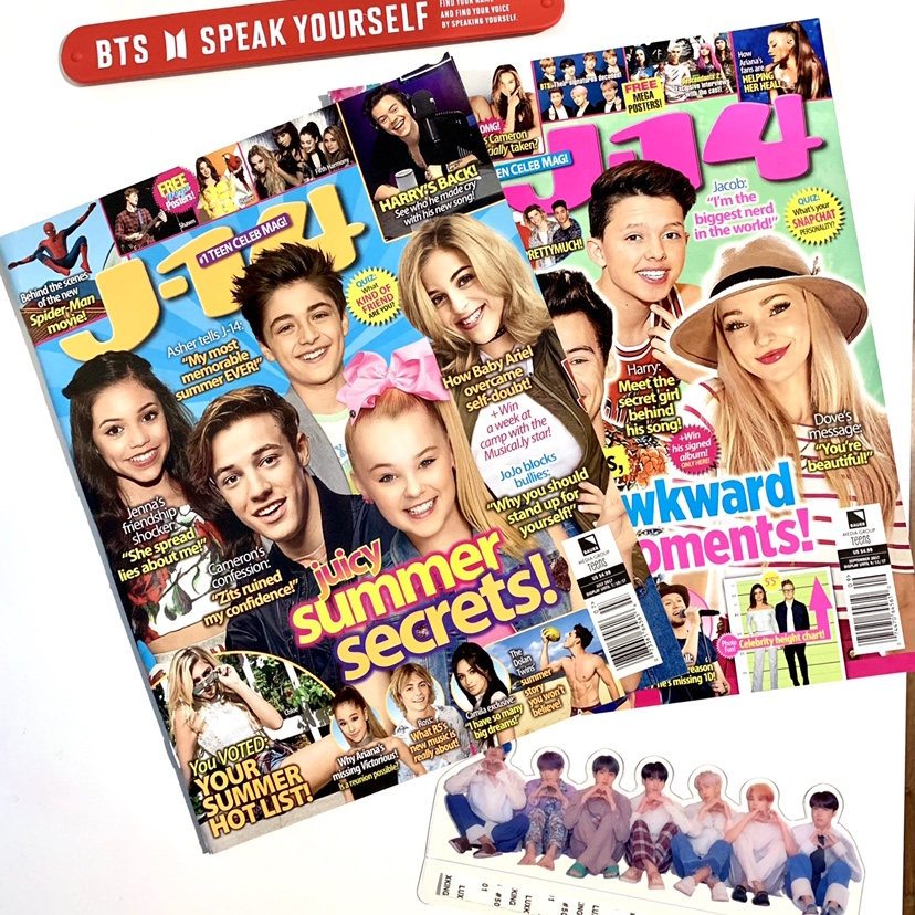 J-14 magazines featuring BTS! These were the 2    - Depop