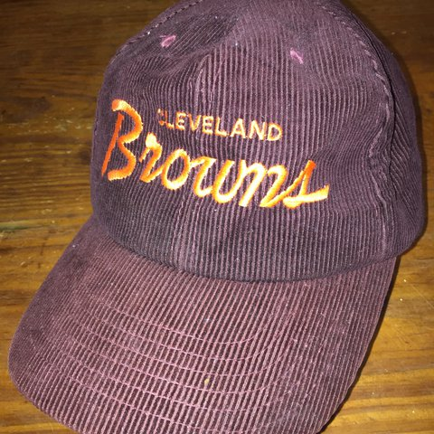 aa6b5cfdbb6304 ... era brown orange 2018 nfl sideline home official 59fifty fitted hat  closeout late 1980s cleveland browns corduroy snapback like new depop ab149  992ac ...