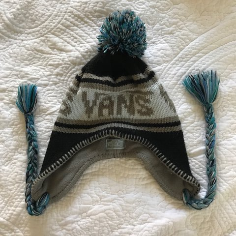 Vans Off The Wall   trapper hat   or earflap beanie with   a - Depop c9a734a9bd8