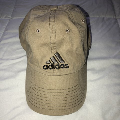 2d08d9553f2 Adidas logo hat in khaki with adjustable strap.  adidas - Depop