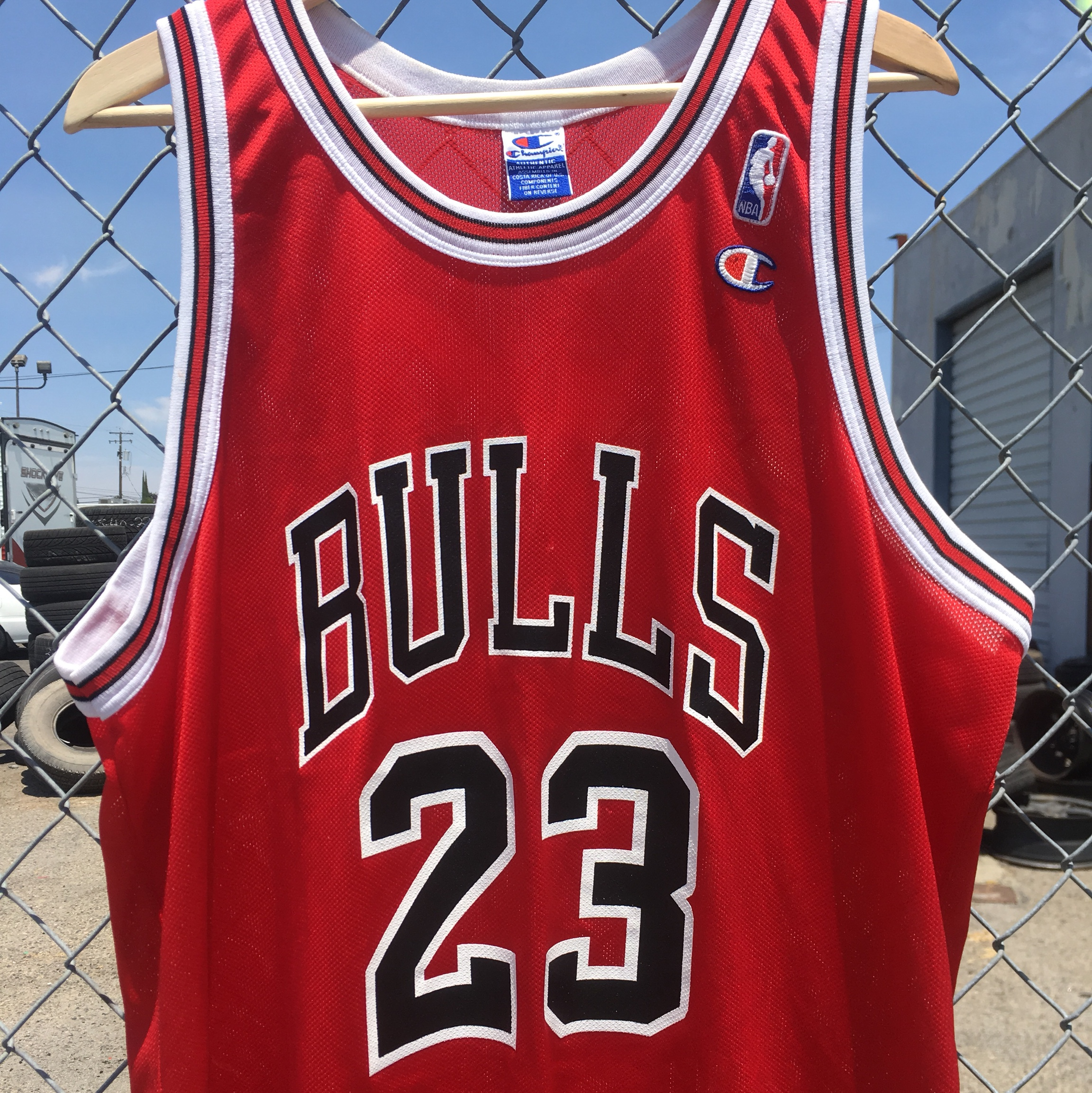 the best attitude fffba cf374 Champion MJ jersey Sz 48 - Depop