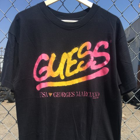 daba3224647f @coldclassicca. 10 months ago. Fresno, United States. Vintage Guess Georges  Marciano 80's Spray Paint Art T shirt