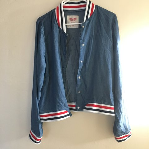 32c1ded87a0 Thin Jean Jacket Fabric  100% Lyocell Worn once and is a - Depop