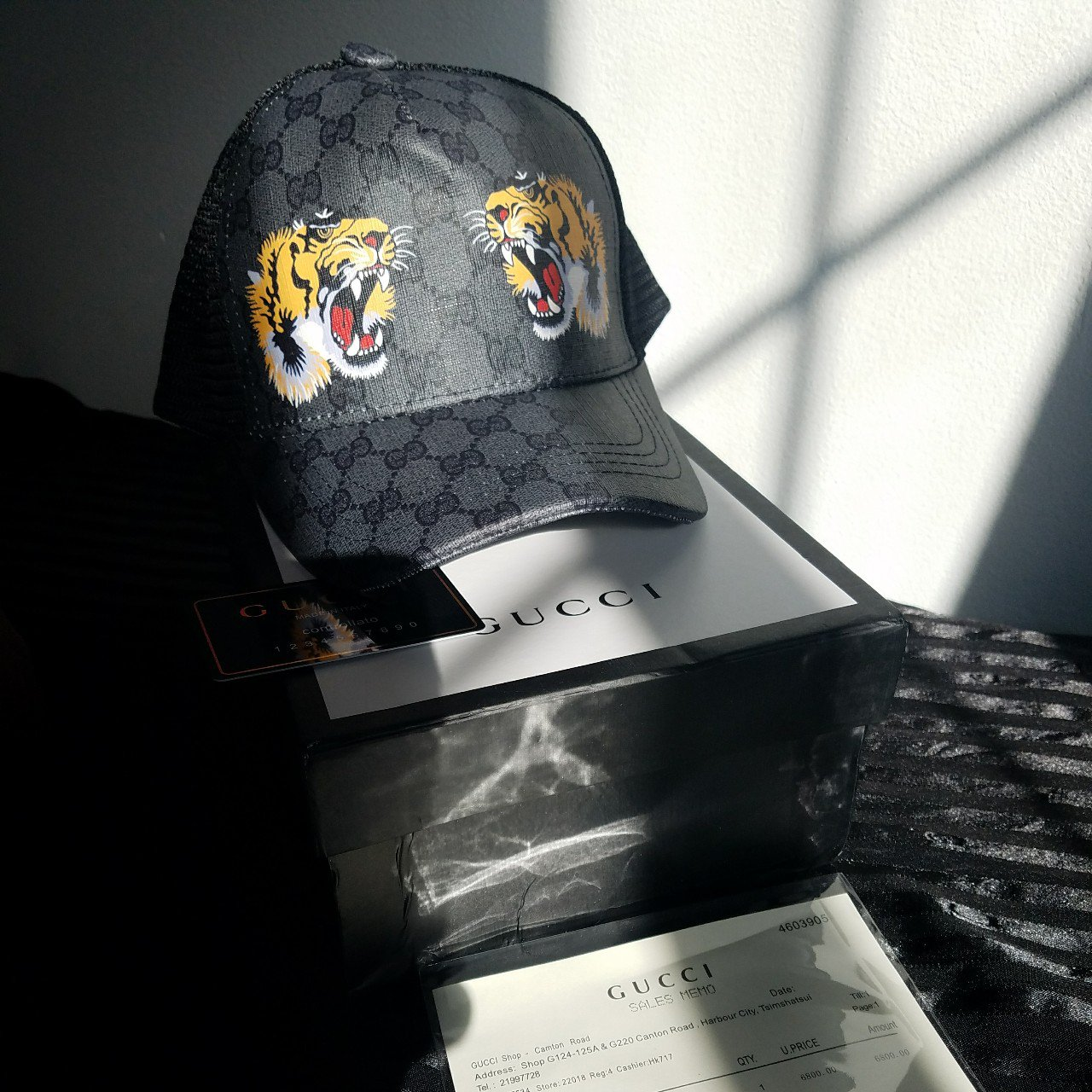 GUCCI HAT brand new size fits all snap back edition comes - Depop 20981ef0e43