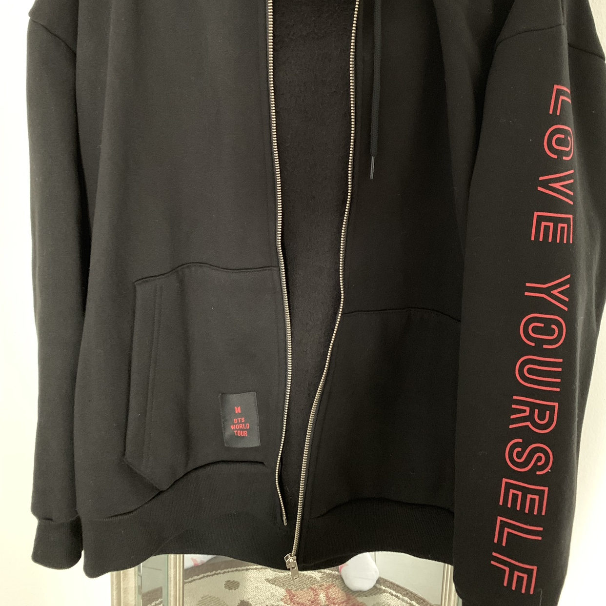 Bts Love Yourself Tour Hoodie Size 1 Equivalent To Depop