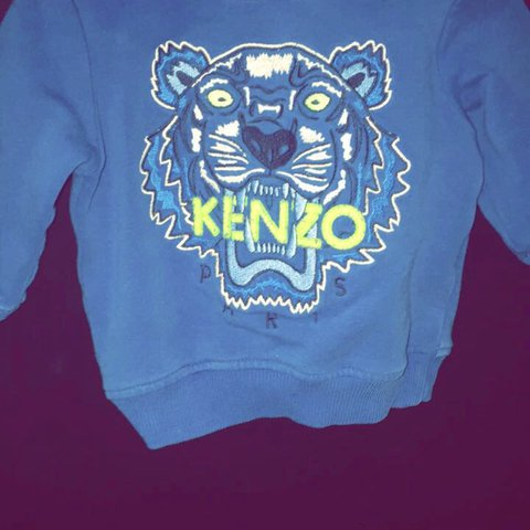 afc669ce35 Blue Kenzo Jumper. Size 3 months. Very small fitting my boy - Depop