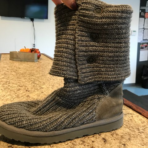 Gray Knit Uggs Size 10 Worn Maybe Two Times Outside Of The Depop