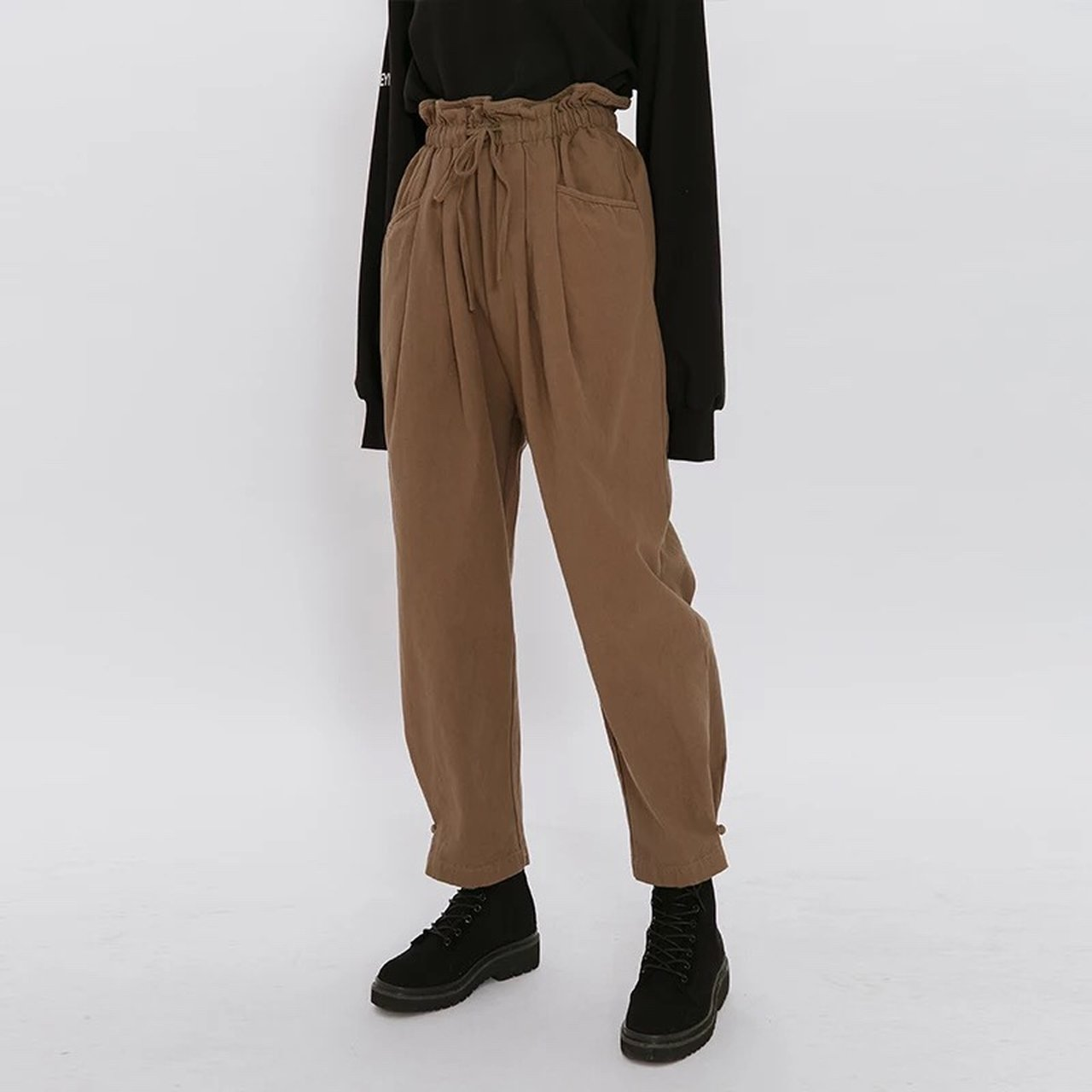 2fe82e08d471 @galfashion. 6 months ago. 美國. High waisted paperbag trousers- ...
