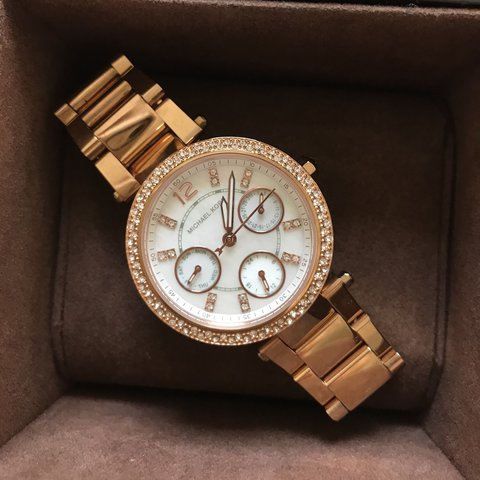 546262111bfa Genuine Michael Kors Rose Gold watch. MK5616. Links have + - Depop