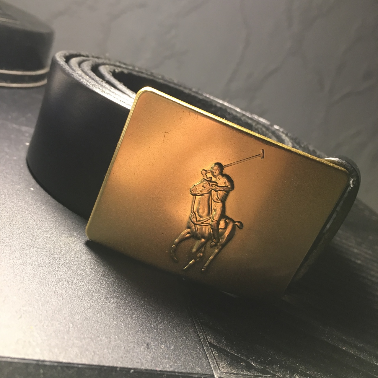 POLO RALPH LAUREN LEATHER BELT WITH BIG PONY METAL BUCKLE BROWN OR BLACK NEW NWT