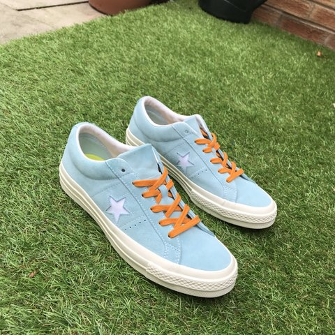 9980a242188 💧GOLF WANG CONVERSE X TYLER THE CREATOR ONE STAR IN ONCE ME - Depop