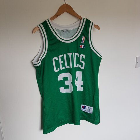 89c08c2cc75 90s NBA Boston Celtics Paul Pierce champion swingman jersey - Depop