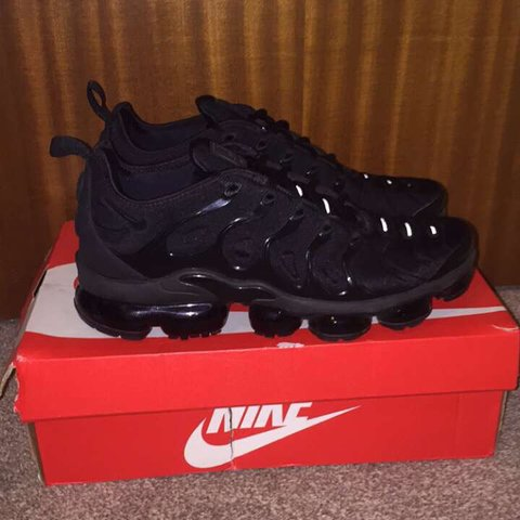 0c0e0dd51994c  isobellily3. in 7 hours. United Kingdom. Triple Black Vapormax Plus Size  UK 8.5. Barely worn - 9 10 condition
