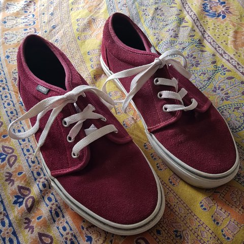 4031ed46f3b8 Burgundy suede vans size 6.. worn a handful of times as you - Depop