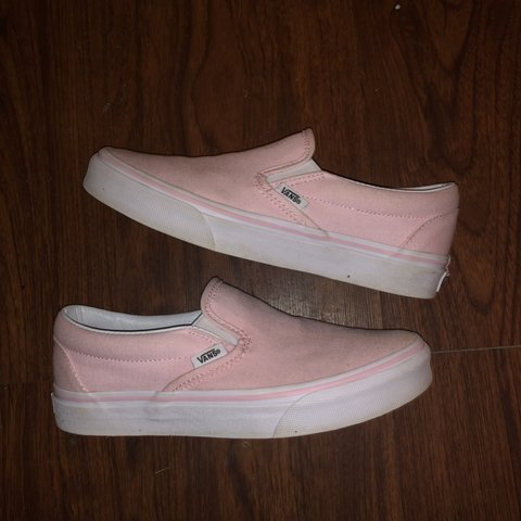 ced907309e3a LIGHT PINK SLIP ON VANS! ONLY WORN TWICE! In almost US 5.5 - Depop