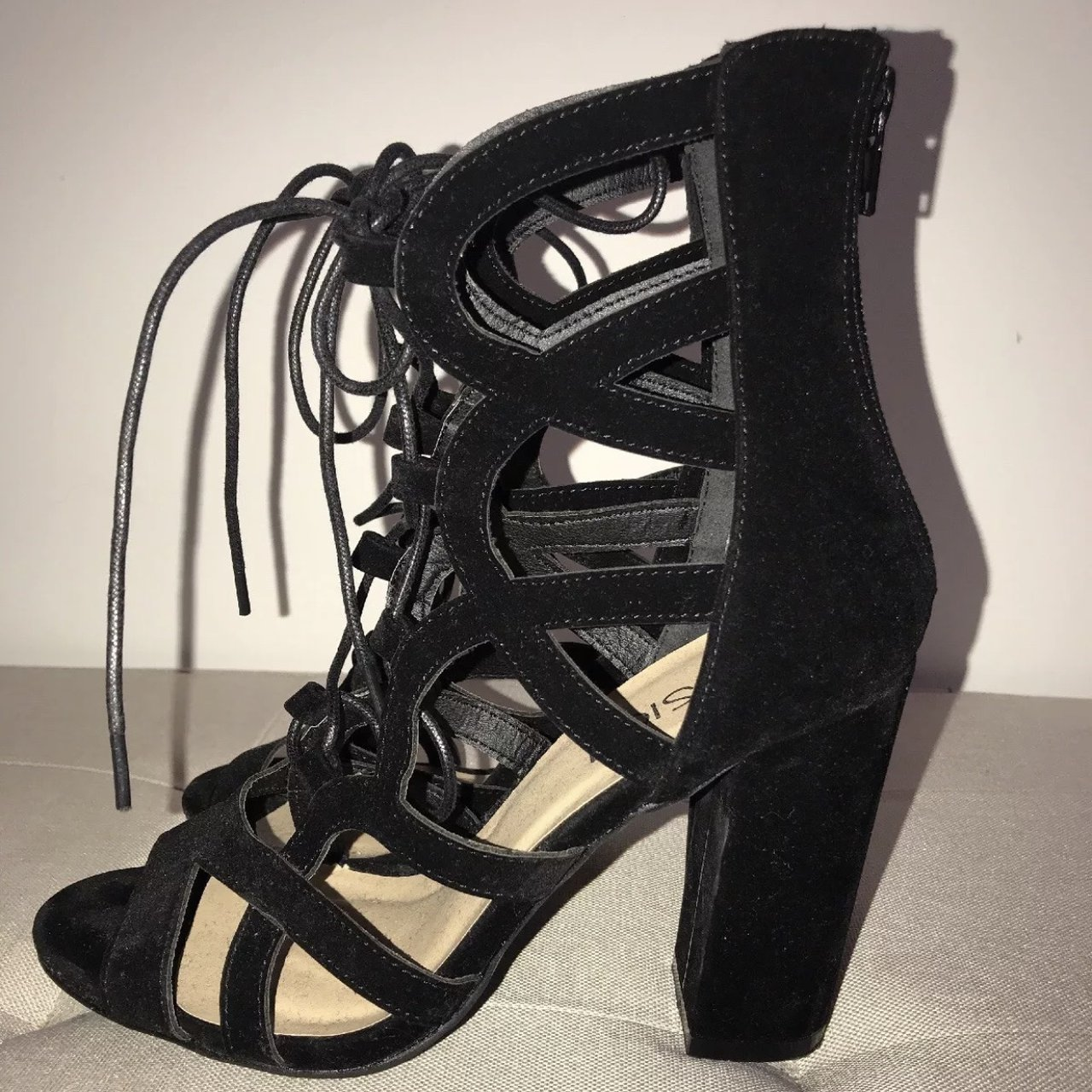 29bc1081bdd Women s black lace up strappy. Sold. £9.99 · Women s ladies block high heel
