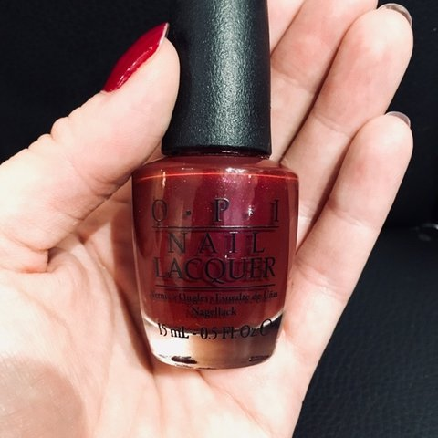 OPI nail varnish in Thank Glogg It\'s Friday Red with a Opi - Depop