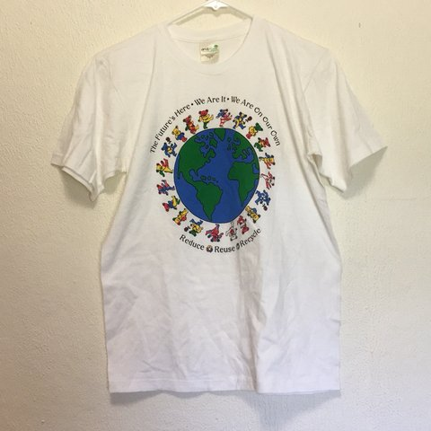 40fd88560 Vintage reduce reuse recycle grateful dead band T-shirt size - Depop