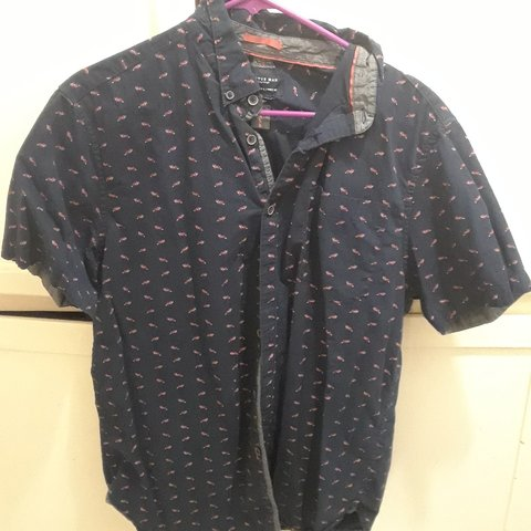 Cactus Man Button Up With Fox Graphic Size L Depop