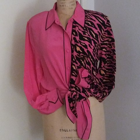 d06895f5b99cc Bob Mackie Wearable Art 100% Silk Blouse! What! ! THE of the - Depop