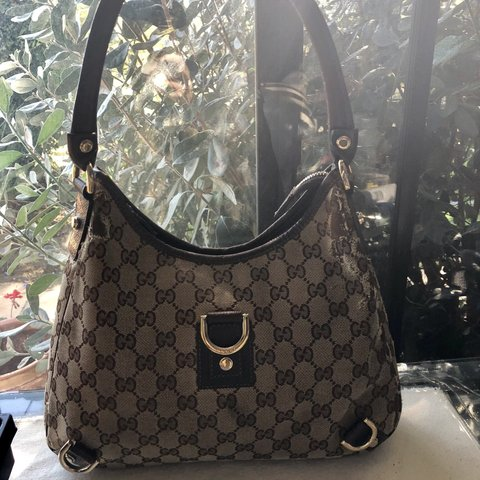 406049ad527 Beautiful authentic GUCCI GG Monogram D-Ring Hobo Bag. It s - Depop