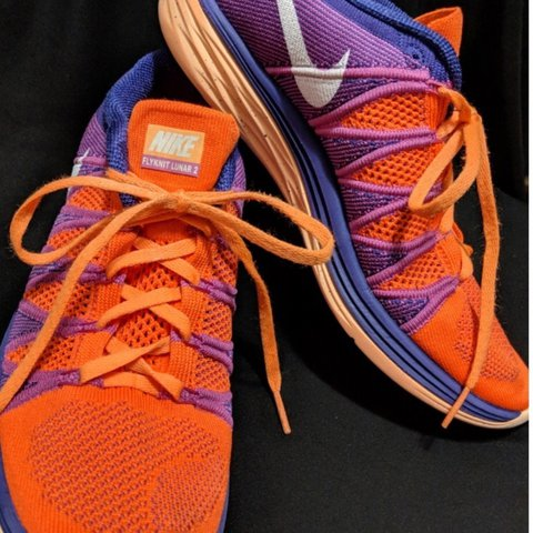 reputable site b62b1 0ebd8  tnel1. 10 months ago. Forest Park, United States. Nike Flyknit Lunar 2,  orange and purple ...