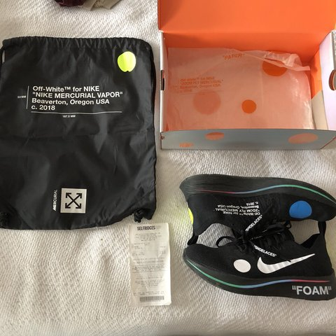 fbf794d4718e Authentic Off-White Nike Zoom Fly Black ✅ Size 8.5 UK