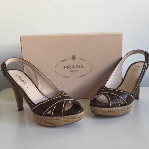 7c66569f244 Gorgeous authentic Prada real leather high heels
