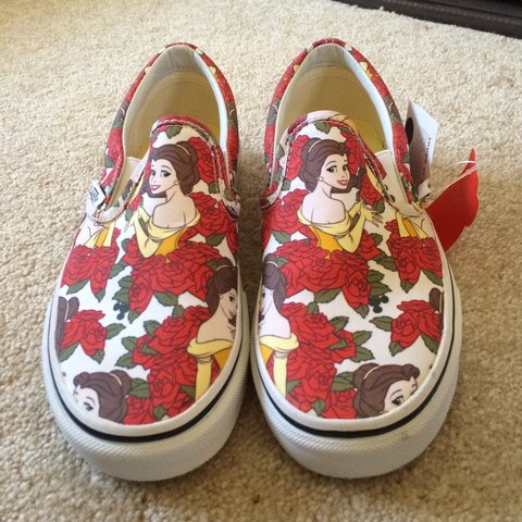 c87426195e Belle Disney vans. Beauty and the beast. Limited edition. UK - Depop