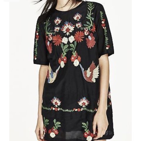 36283a0a07f  hannahwalsh91. 7 months ago. United Kingdom. ZARA embroidered floral short  dress. Size XS.