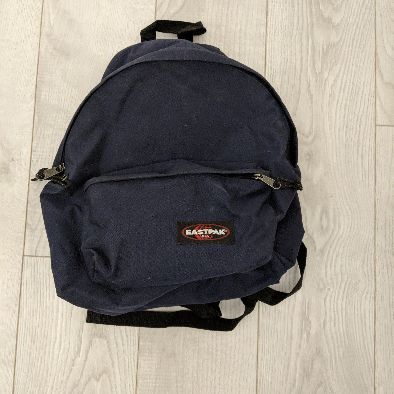 Selling my Eastpak backpack Navy. Used but in very good Will - Depop