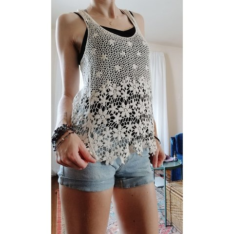 1bb1f60c174bb3 Lace Razor Back Tank Top   Cover Up Cute lace