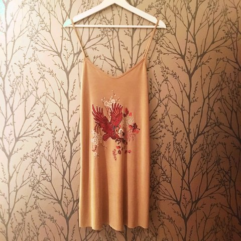 d539d185 @kel0892. 3 years ago. West Wickham, Greater London, UK. Zara embroidered cami  dress with eagle print. Brand new ...