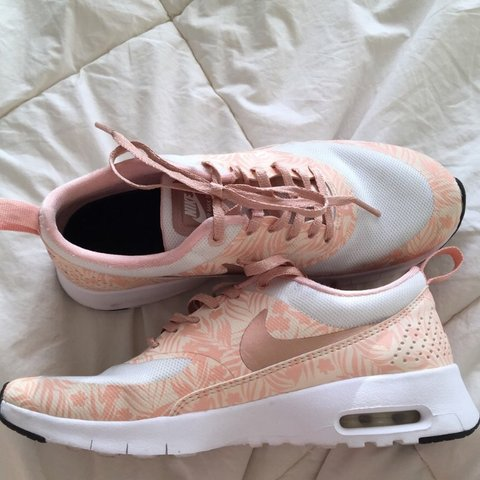 bbfb514989b ON HOLD    rose gold nike air max theas ! i don t think i - Depop