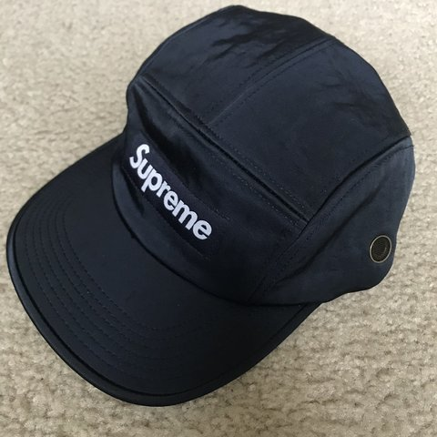 cdc0fdf26e0 Supreme Washed Nylon Camp Cap Navy Blue Fw 17 Worn twice In - Depop