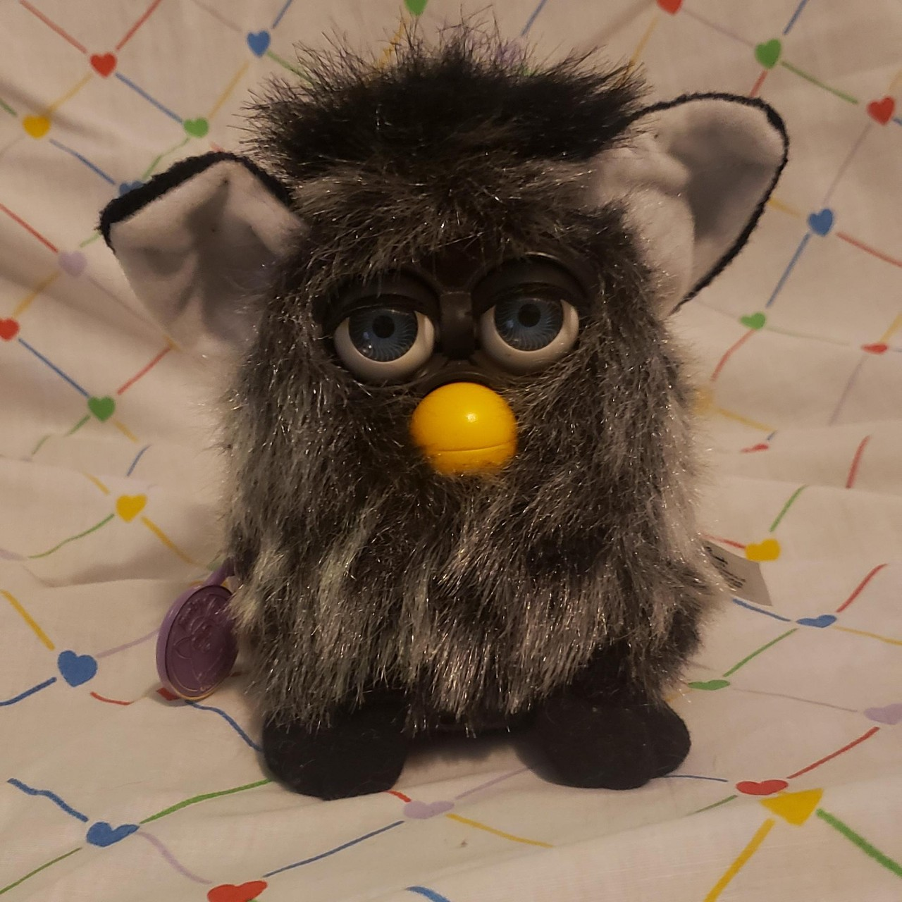 mink furby  he is untested but still has his    - Depop