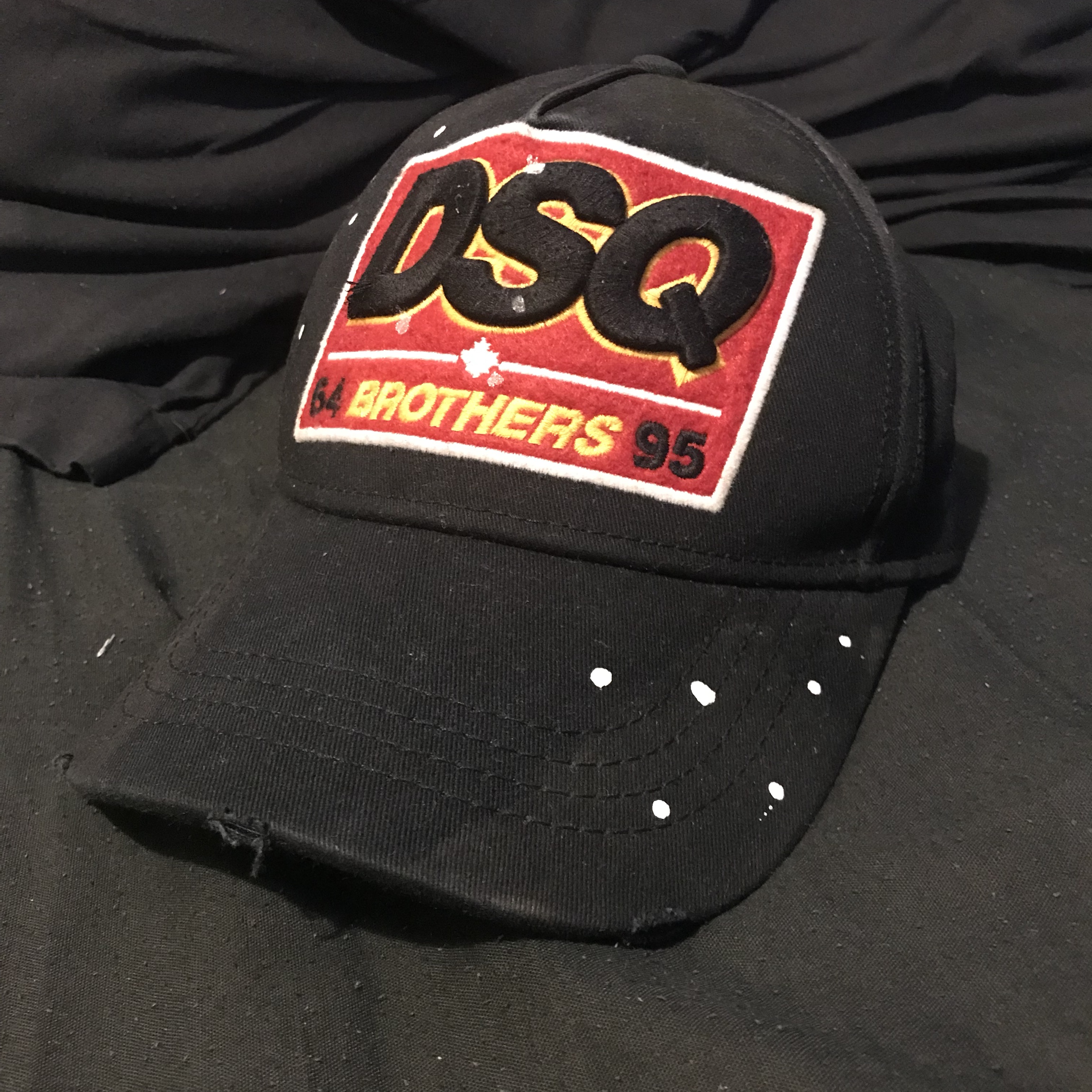 ba5f766fd DSquared2 Cap 'DSQ BROTHERS' With a pain splatter... - Depop