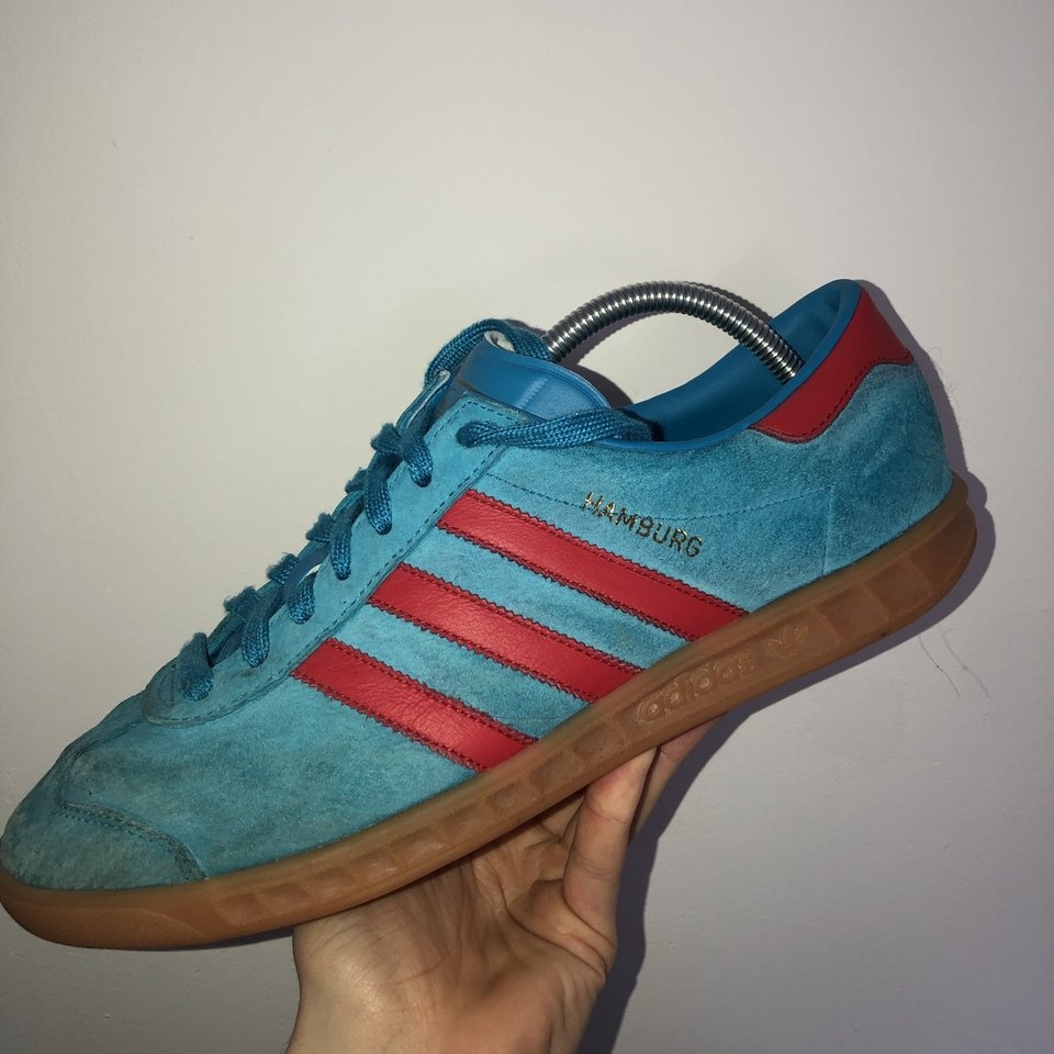 Escuchando extremadamente Guerrero  Adidas Hamburg - blue/red Size 9 Worn a lot,... - Depop