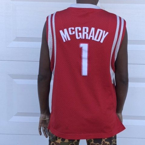 bbff9640d16 Houston Rockets Jersey Reebok Tracy McGrady Kids size Large - Depop