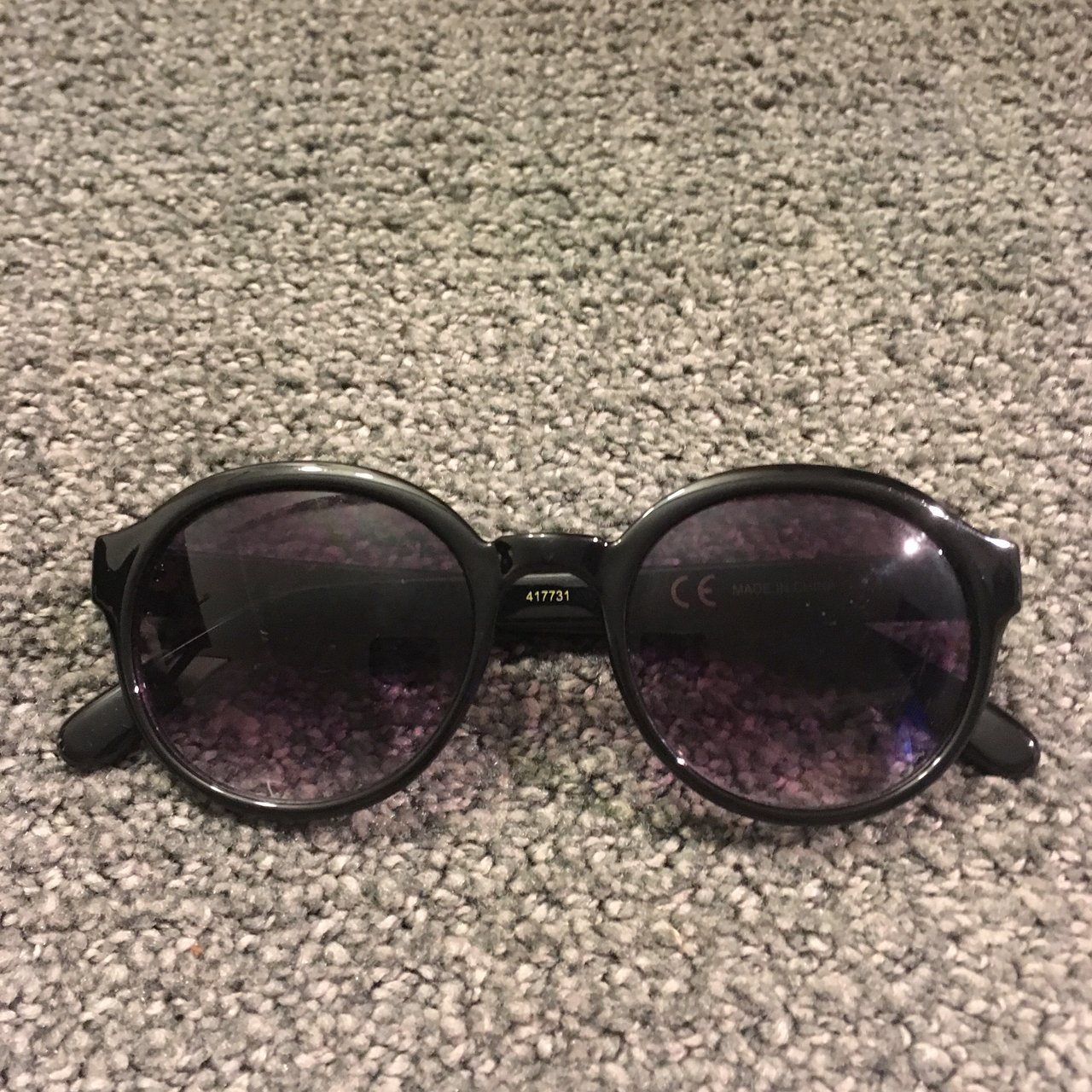 80973767f4f Black framed sunglasses. Absolutely tiny scratches on the so - Depop