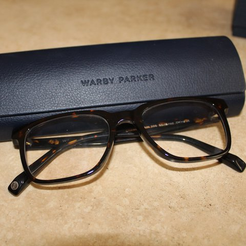 a35a7ac3d1 Warby Parker Chamberlain Eyeglasses with no prescription for - Depop