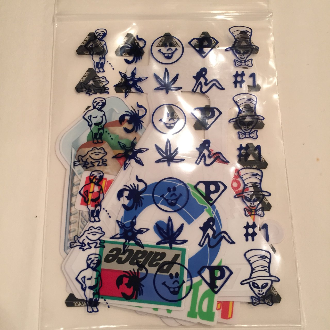 db443c8e6f9a Palace Sticker Pack Brand New (Never Opened) Msg with - Depop