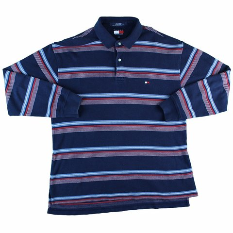 6c3668b98 @vintagecapital. last month. Bowmanville, Canada. Tommy Hilfiger Vintage 90's  Striped Rugby Polo Size Large