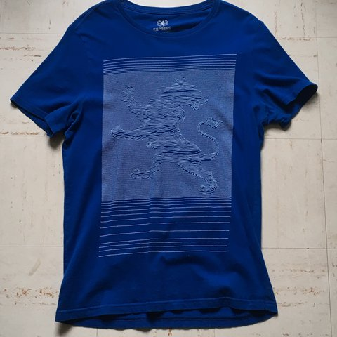 8d76c243a @abelbanko. last year. College Park, United States. Graphic tee/tshirt with express  pop out logo. Royal blue ...