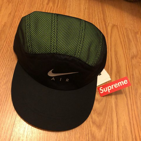 a77b41a6155 Nike x Supreme Trail Running Hat Green - SOLD OUT IN STORE - - Depop