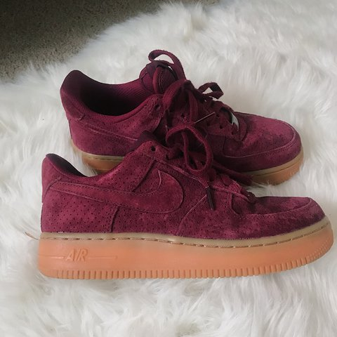 sneakers for cheap 787c8 4539a  shinha. last year. San Diego, United States. nike air force 1 burgundy  suede ✨