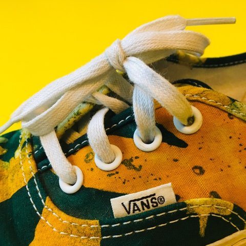 01e9029c8d5be0 🌈AUTHENTIC VANS SUPER COLORFULL Yellow and green