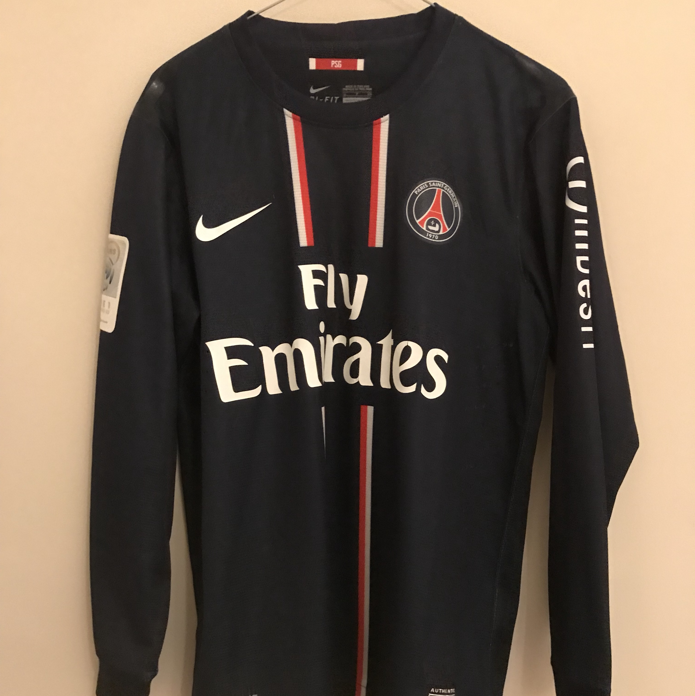 new product d2486 d4df0 Match Issue David Beckham PSG 2012/13 Jersey. - Depop