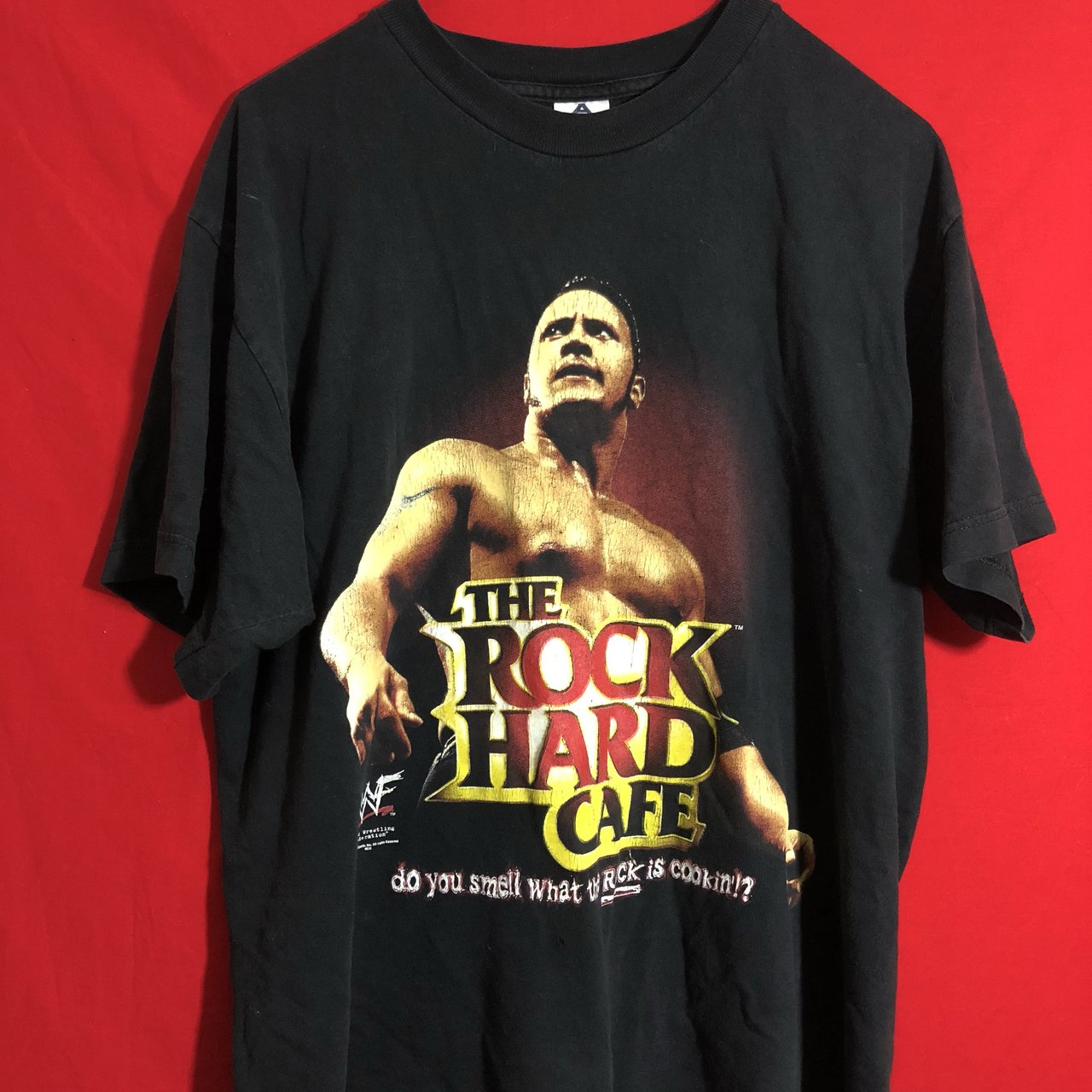 FREE SHIPPING) Vintage 90s WWF the rock shirt. Shirt has to - Depop 369e99988